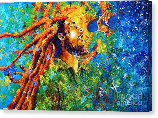 Bob Marley's Tribute Canvas Print by Jose Miguel Barrionuevo