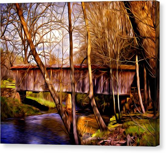 Bob White Covered Bridge Canvas Print