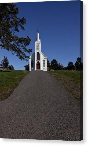 Bodega Canvas Print - Bodega Church by Garry Gay