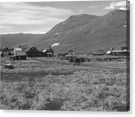 Bodie Cabins Canvas Print by Philip Tolok