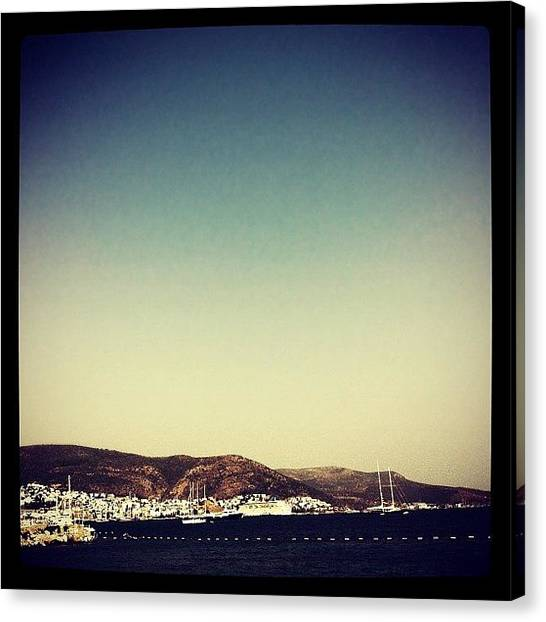 Marinas Canvas Print - Bodrum by George Saad