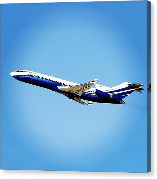 Starlings Canvas Print - Boeing 727 From Starling Aviation - by Juan Borras