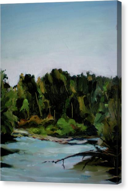 Boise River From Greenbelt Canvas Print