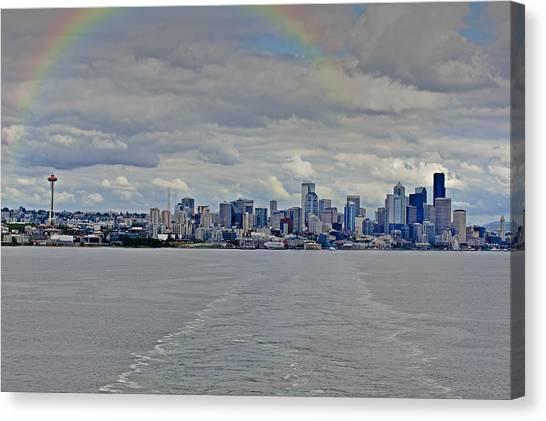 Bon Voyage Seattle Canvas Print
