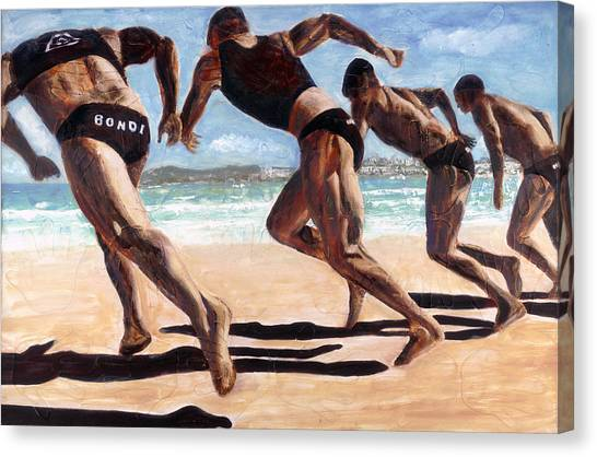 Bondi Boys Canvas Print