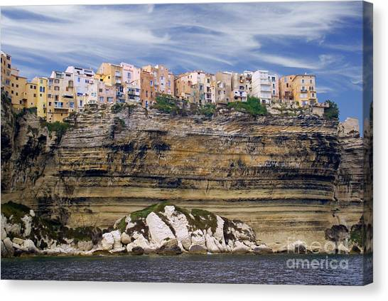Bonifacio From The Sea Canvas Print