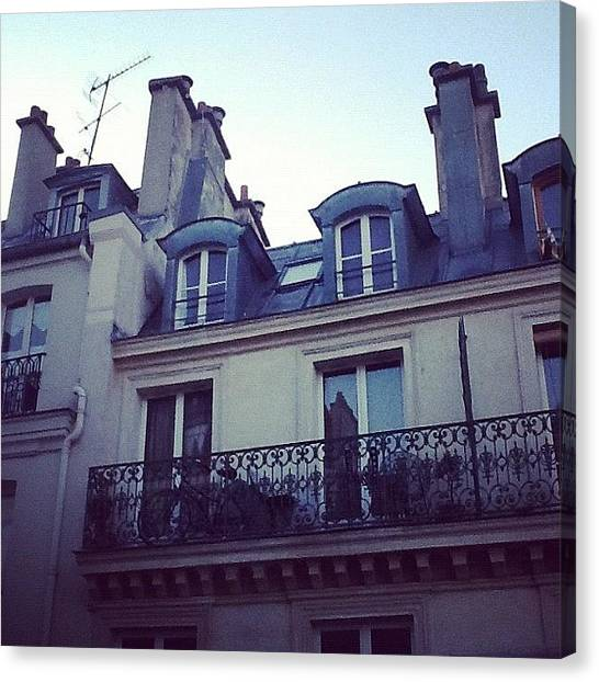 European Canvas Print - Bonjour Paris by Manu Bonilla