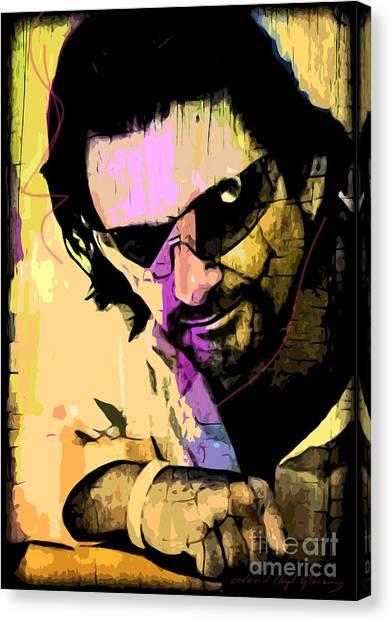 Bono Canvas Print - Bono by David Lloyd Glover