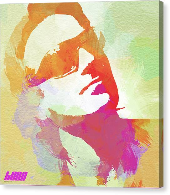 U2 Canvas Print - Bono by Naxart Studio