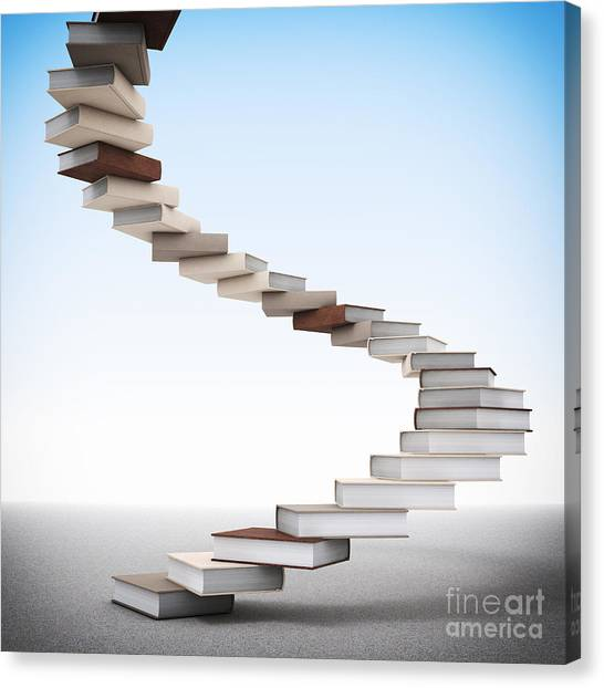 Book Stair Canvas Print