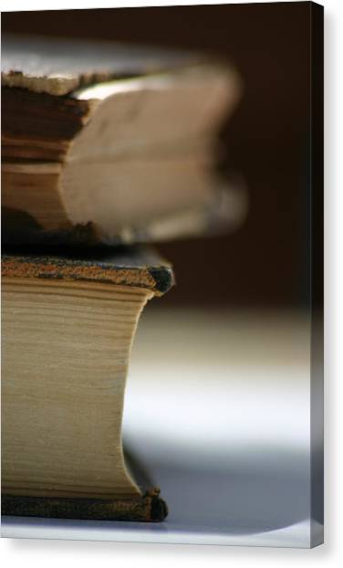 Canvas Print featuring the photograph Books by Kelly Hazel