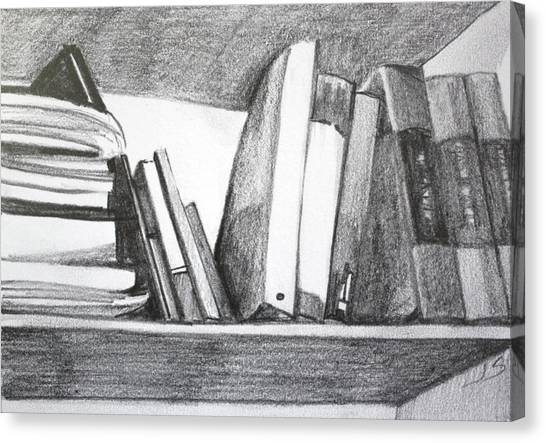 Books On A Shelf Canvas Print