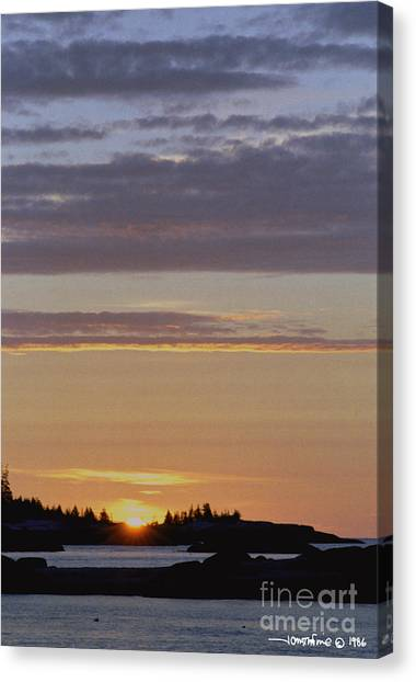 Boothbay Maine Sunrise 1 Canvas Print