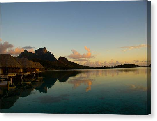 Bora Bora Dawn Canvas Print by Benjamin Clark
