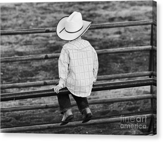 Born To Be A Cowboy Canvas Print