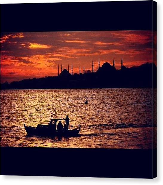 Turkish Canvas Print - #bosphorus #istanbul #turkey #uskudar by Ozan Goren