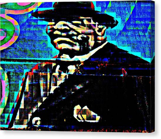 Pixelated Canvas Print - Boss Man by Randall Weidner