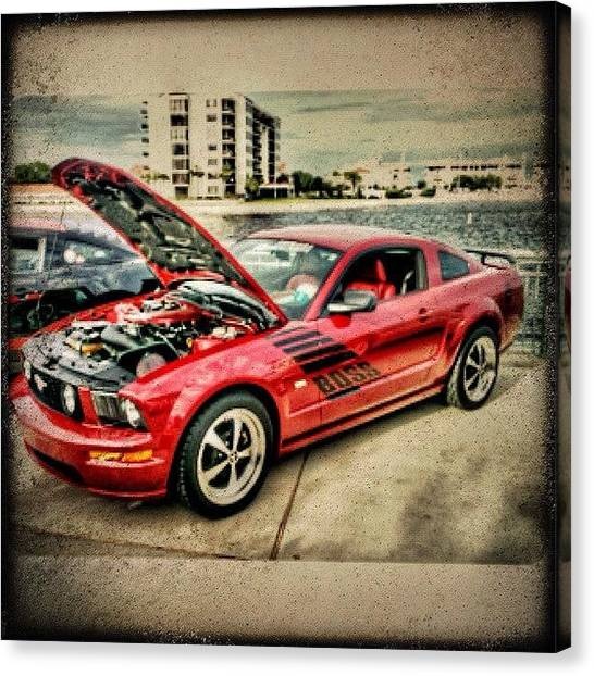 Ford Canvas Print - #boss #mustang #americanmuscle #ford by Kenny Richardson