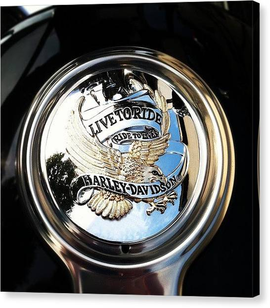 Harley Davidson Canvas Print - Boss's New Ride. #iwillneverbethatcool by Rob Beasley