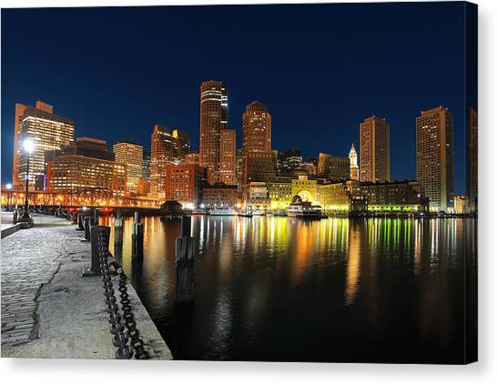 Boston Harbor Skyline  Canvas Print
