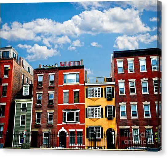 Brick House Canvas Print - Boston Houses by Elena Elisseeva