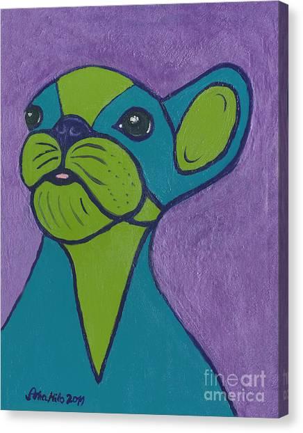Ania Milo Canvas Print - Boston Terrier My Style by Ania M Milo