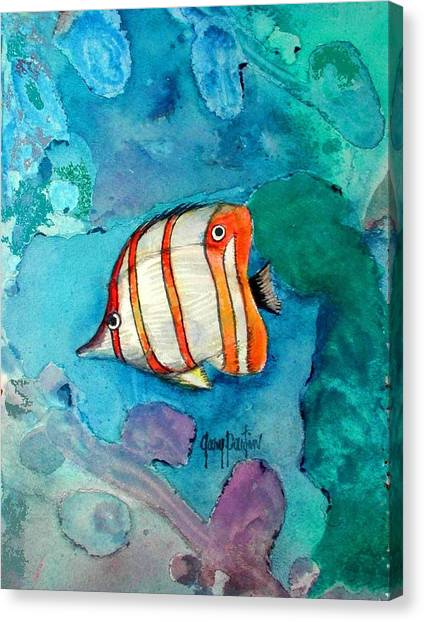 Bottle Nose Tropical Fish Canvas Print