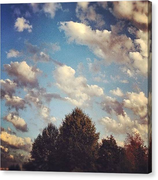 Weather Canvas Print - Bountiful Clouds Float Like Cotton by Amber Flowers