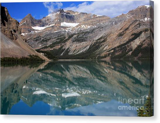 Canada Glacier Canvas Print - Bow Lake And Glacier by Scotts Scapes