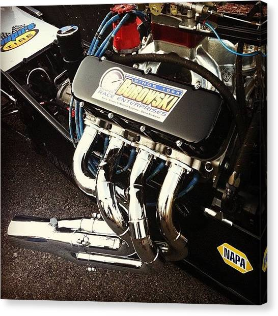 Racing Canvas Print - Bowden Dragster by Borowski Race