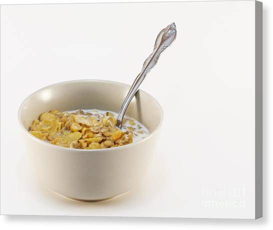 Bowl Of Cereal Canvas Print by Blink Images