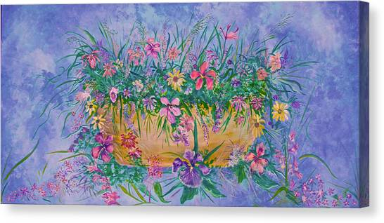 Bowl Of Flowers Canvas Print