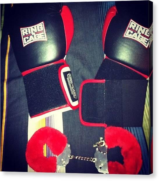 Gloves Canvas Print - #box #boxing #gloves #glove #sports by Alex Mamutin