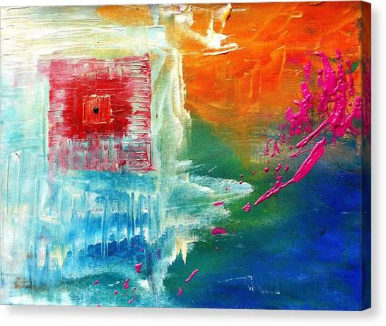 Lock box canvas print boxed in by chandra sunkara