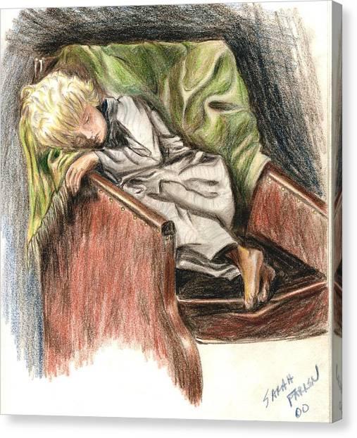 Boy In Chair Canvas Print