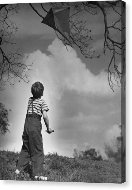 Boy Outdoors Canvas Print by George Marks