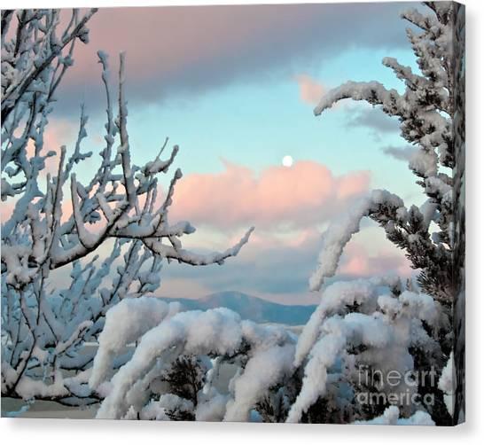 Boyd Lake Winter Sunrise Canvas Print by Harry Strharsky