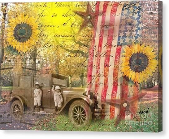 Boys And Their Cars Canvas Print
