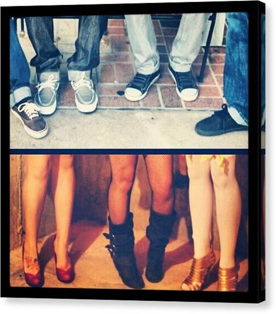 Legs Canvas Print - Boys&girls Club... #vans #shoes #feet by Dilaxo Gertron
