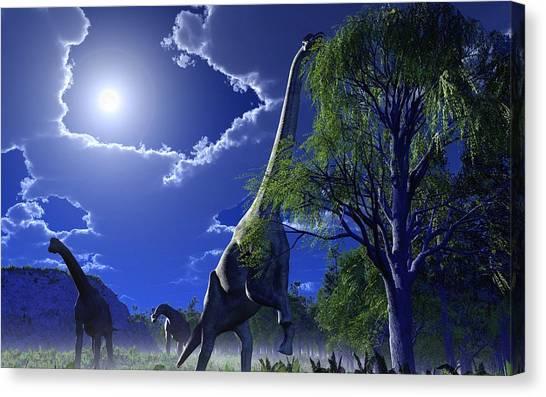 Brachiosaurus Canvas Print - Brachiosaurus Dinosaurs, Artwork by Roger Harris