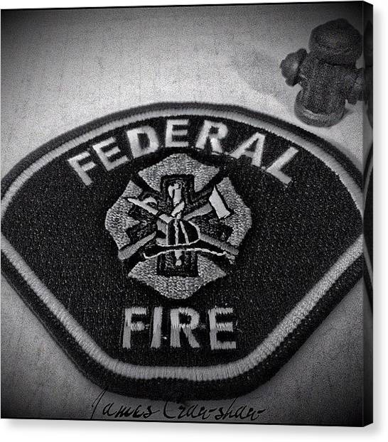 Firefighters Canvas Print - #brand34photography #photography #fire by James Crawshaw