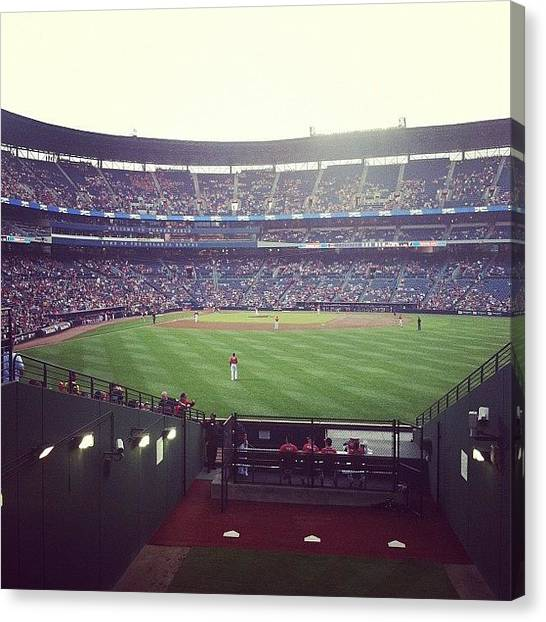 Atlanta Braves Canvas Print - Braves At Turner Field by Erin Egan