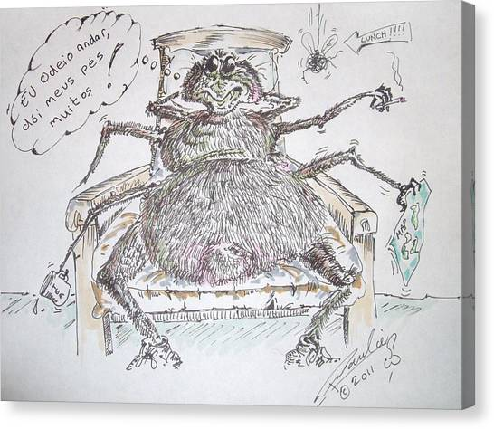 Brazilian Wandering Spider Canvas Print by Paul Chestnutt