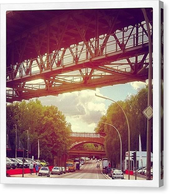 Steel Canvas Print - Brücken über Brücken #bridges by Valnowy Photography