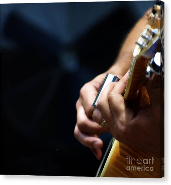 Slide Guitars Canvas Print - Break Neck Blues by Steven Digman
