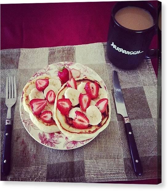 Bananas Canvas Print - Breakfast Is Served #buttermilk by Tabitha Horton