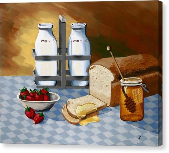 Breakfast Canvas Print by Jennifer  Donald