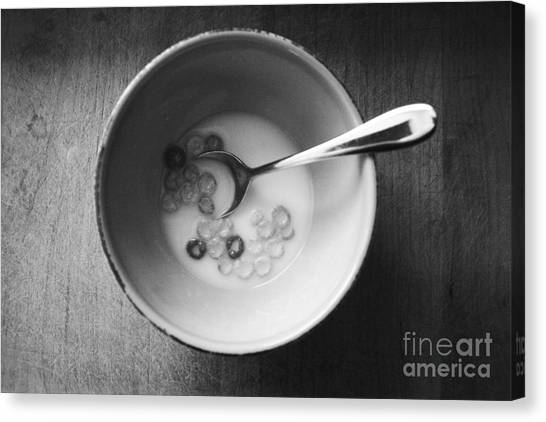 Diners Canvas Print - Breakfast by Linda Woods