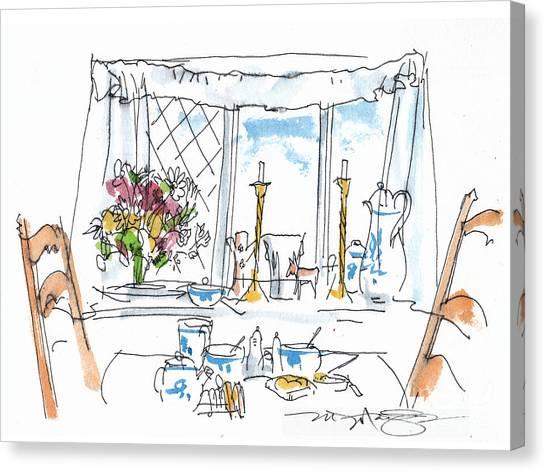 Breakfast Window Canvas Print