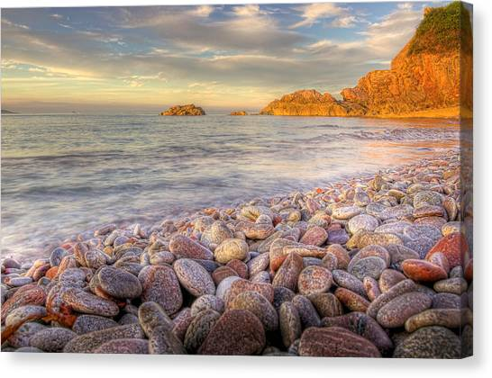 Breakwater Beach Canvas Print by Phil Hemsley
